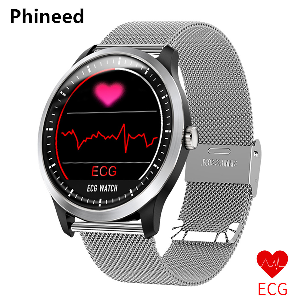 Phineed New N58 ECG PPG smart watch with electrocardiograph ecg display,holter ecg heart rate monitor blood pressure smartwatch