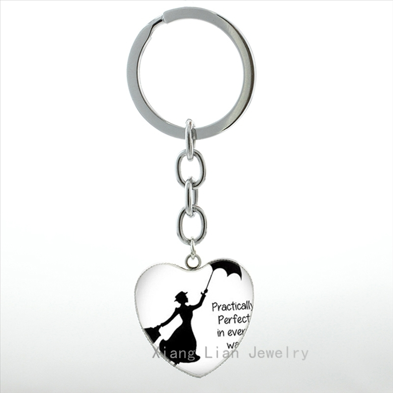 Exquisite Mädchen Cabochon Mode Mary Poppins Schlüsselbund Frauen - Modeschmuck - Foto 4