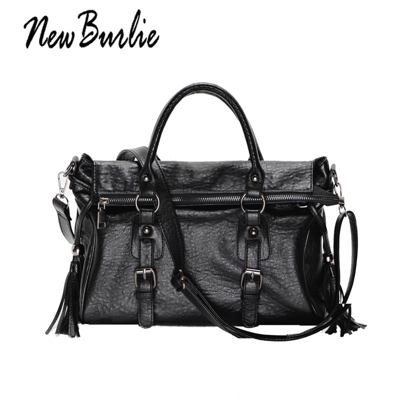2018 Large Capacity Women Bags Shoulder Tote fashion Bag Classic  PU Motorcycle Women Messenger bag soft casual Leather Handbags