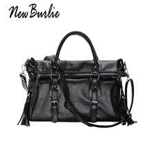 2018 Large Capacity Women Bags Shoulder Tote fashion Bag Classic  PU Motorcycle Women Messenger bag soft casual Leather Handbags стоимость