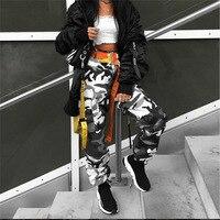 Las Mujeres calientes de Camuflaje Pantalón de Cintura Alta Hip hop Gris Camo Pantalón con bolsillos Girls Militar Amarillo Pantalón Basculador Pantalones de danza