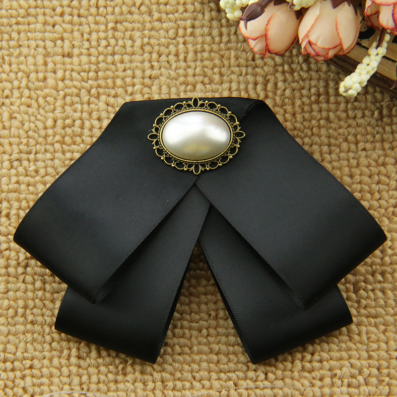 i-Remiel Cloth Art Bow Tie Ribbon Brooch for Women Student Bank Shirt Suit Coat Cravat Pins Brooches Blouse Jewelry Accessories