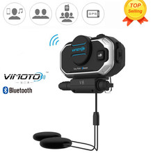 Easy Rider Vimoto V8 Motorbike BT Interphone Motorcycle Bluetooth Helmet Intercom Stereo Headset for Cell Phone GPS 2 Way Radios(China)