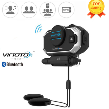 Easy Rider Vimoto V8 Motorbike BT Interphone Motorcycle Bluetooth Helmet Intercom Stereo Headset for Cell Phone GPS 2 Way Radios
