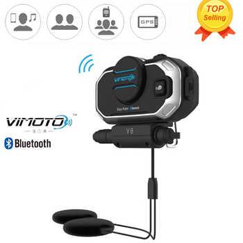 Easy Rider Vimoto V8 Motorrad BT Sprech Motorrad Bluetooth Helm Intercom Stereo Headset für Handy GPS 2 Funkgeräte