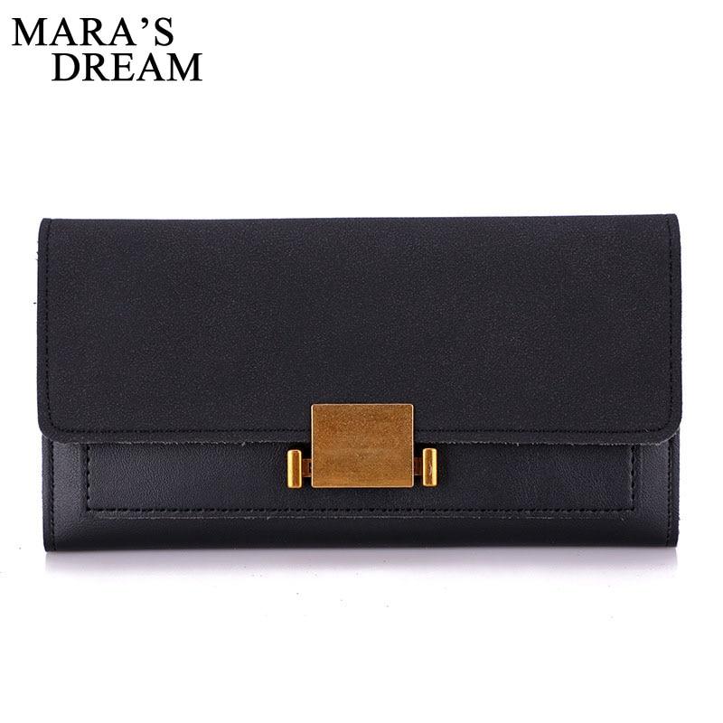 Maras Dream 2018 PU Leather Women Wallet Female Long Clutch Lady Wallets Rfid Luxury Brand Money Bag Zipper Coin Purse Bags