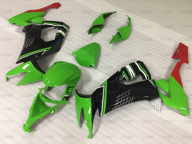 ZX 10r 2008 2010 Motorcycle Fairing for Kawasaki ZX10r 09 10 Fairing Ninja ZX 10r 08 09 Green Black Fairing