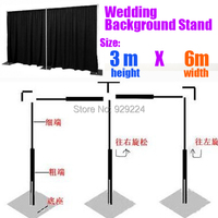 Backdrop Frame Stand 3m x 6m Wedding Stainless Steel Pipe Wedding Backdrop Stand