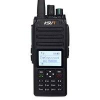 O interfone sem fio de digitas de dmr apoia a modulação digital 8 w 400 mah do walkie talkie de u/v 700-5800 mhz 4fsk
