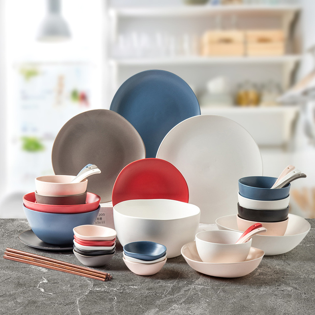BUCK Nordic Irregular shape porcelain Dinnerware set  ceramic dishes and plates of tableware in kitchen 1