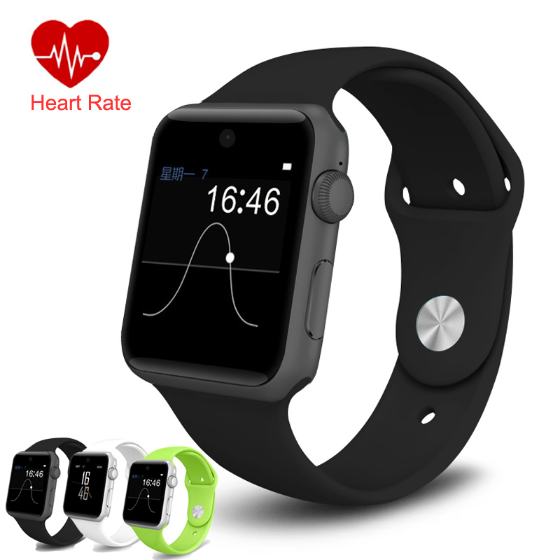Sports Smart Watch Heart Rate Monitor HD Screen Support SIM Card Fitness Tracker DM09 SmartWatch Clock Sync Bluetooth for Phone 2016 paragon smartwatch sim card waterproof fitness tracker for xiaomi apple bluetooth smart watch sim card pk u8 gear moto 360