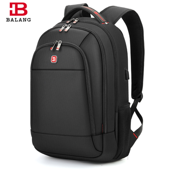 BALANG 2019 Men's Anti-thief Waterproof Backpack For 17 Inch Laptop Unisex With USB Interface School Multi Function Travel Bag