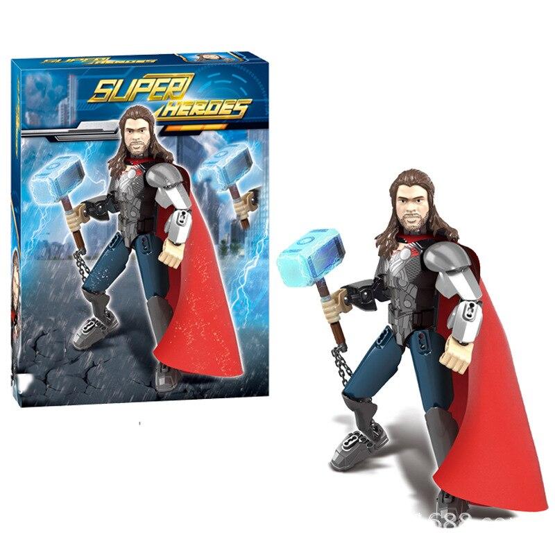Única Venda de Star Wars Figuras de Ação Modelo de Blocos de Construção de Super Herói Da Marvel Avengers Thor DBP494 Tijolos Brinquedos Para As Crianças