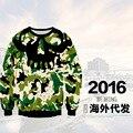 Ropa juvenil de béisbol de alta calidad 3D personalidad tridimensional patrón de impresión suéter de Hip-Hop ropa 12-18 años de edad