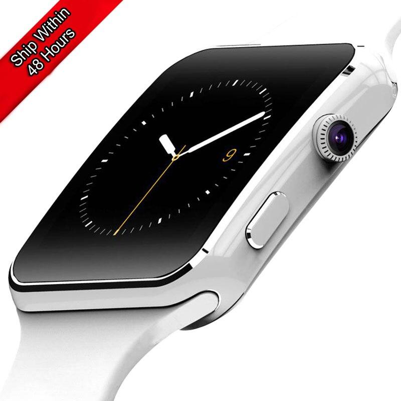 Neue Ankunft X6 Smart Uhr Männer für Kinder Kamera Uhr Unterstützung SIM TF Karte Bluetooth Smartwatch für iPhone Xiaomi Android