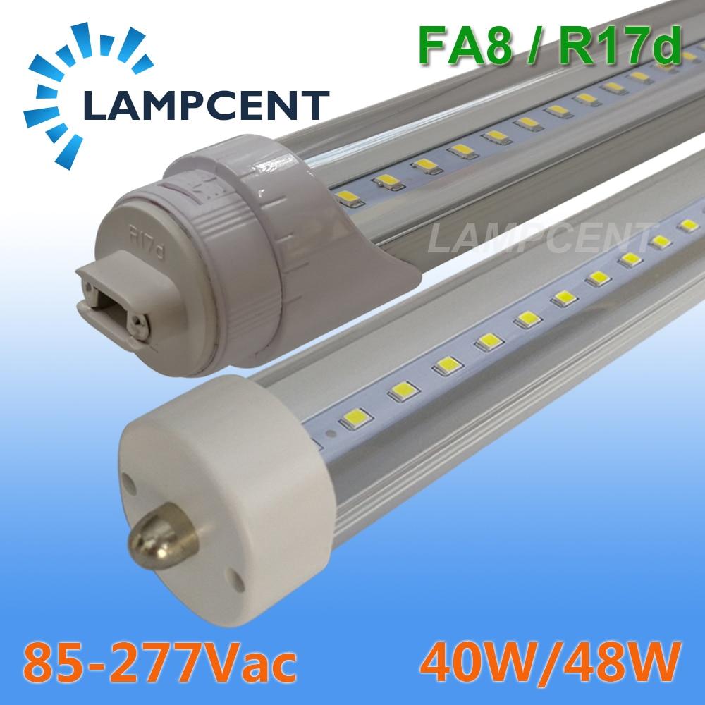 T8 LED Tube ampoule 8FT 2.4 M FA8 simple Pin R17D (HO) 40 W/48 W lampe fluorescente luminaire LED magasin lumière 2-100 Pack
