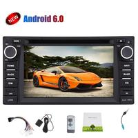 2 din Android 6.0 car dvd player for Toyota Corolla 2007 2008 2009 2010 2011 Quad Core 7 inch 1024*600 screen car stereo radio