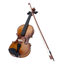 4/4 Full Size Violin Fiddle Top Quality Circle Style Bow Basswood Steel String Stringed Musical Instrument for Kids Beginners