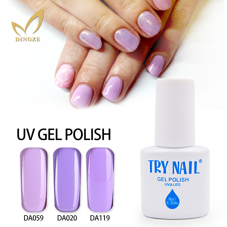 TRY NAIL Base Gel Top Coat Nail Polish Grass Green Easy Soak Off Long-lasting Gel Polish 151 Colors Summer Gel Nail Art(01-31)