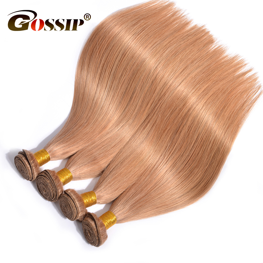 Gossip Hair Straight Brazilian Hair Weave Bundles Honey Blonde Human Hair Bundles 27# Ombre Hair Extension Non Remy 1 Piece Only