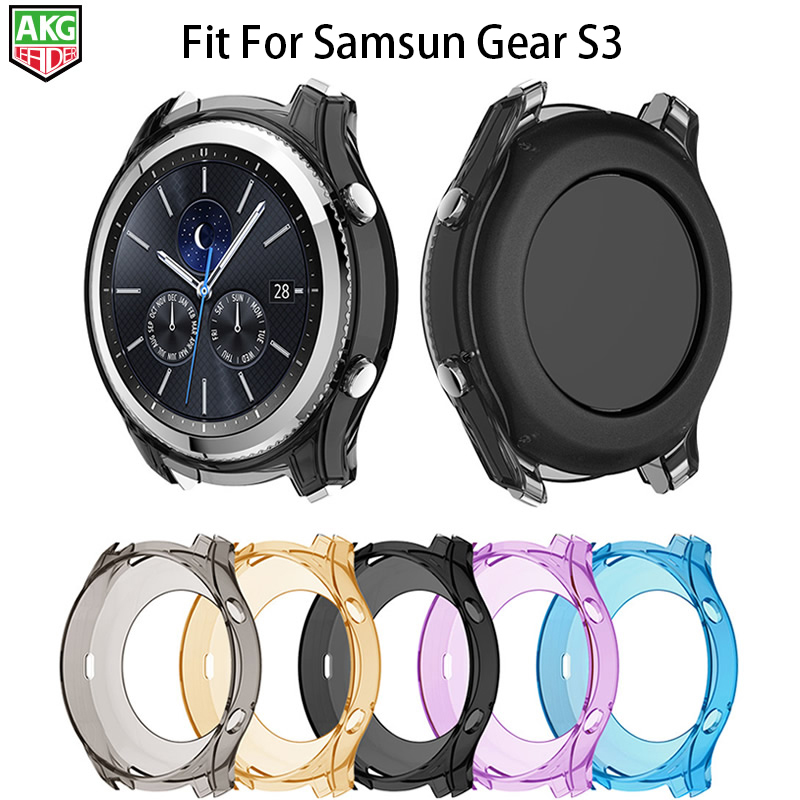 For Samsung Gear S3 Classic Watch Case Newest Watch Colorful Silicone Protection Shell Shock Proof Resistant Protective Frame