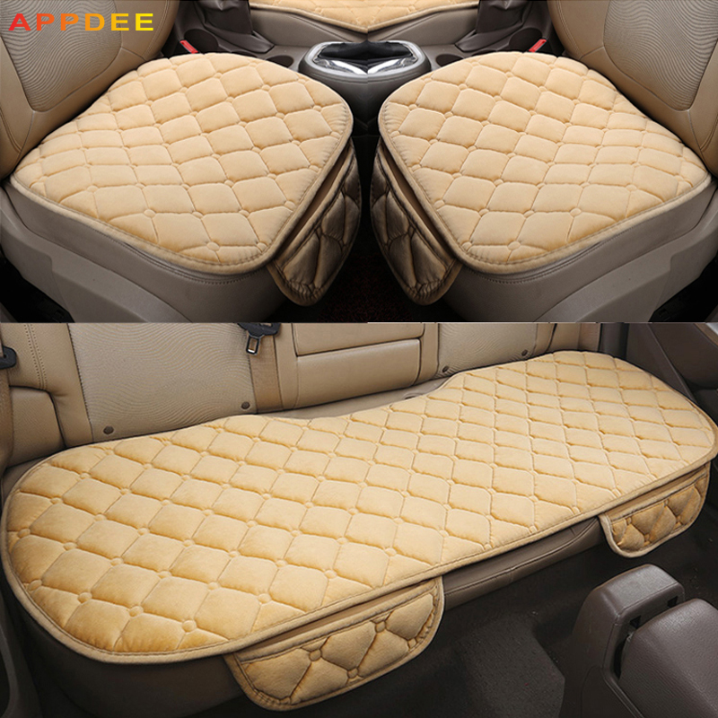 APPDEE Car Seat Covers For Front Back Seat Covers Car Cushion Four Seasons Flocking Cloth Car Styling Auto Accessories Warm brand new styling luxury leather 5 color 3d car seat covers front