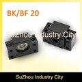 Bk 20 + bf 20 parafuso da esfera sfu2505/2510 máquina de extremidade suporte bk 20 + bf 20 peças cnc bk/bf20 suporte