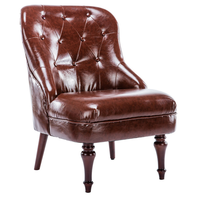 modern upholstered furniture leather sofa chair armless living room occasional accent chair leather single sofa wood