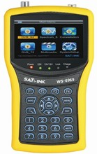 Satlink WS-6960 ws 6960 4.3 inch HD display DVB-S&DVB-S2 HD MPEG4 satlink 6960 Satellite Finder Meter Free Shipping цены