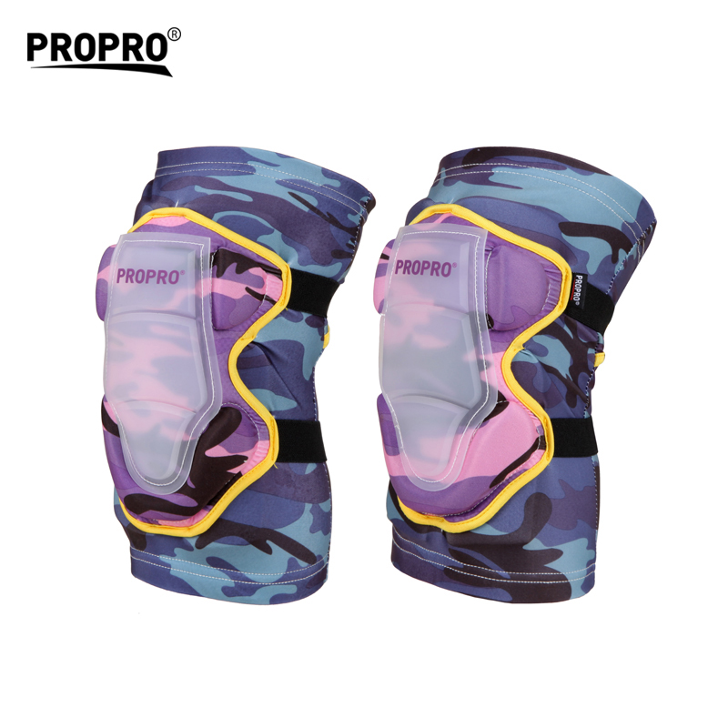 PROPRO Outdoor Sports Children Sports Keen Protector Thicken Pad Camouflage pink For Boys Girls Skating Skiing Cycling