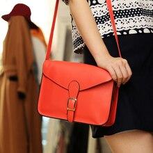 2016 neue Mode Frauen Messenger Bags Kleine PU Leder Shouler Beutel Mädchen Einfache Kupplung Geldbörsen Candy Farbe Crossbody Handtasche