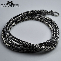 GAGAFEEL 100% 925 Silver Necklaces for Women Men Jewelry Accessorice S925 Thai Solid Silver Rope Long Chain Jewelries Necklaces