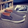 Los hombres Zapatos de Los Planos Holgazanes Cómodos de Primavera Y Verano Versión Coreana Del Estilo de La Manera Zapatos de Conducción