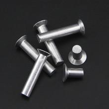 20 штук M4 M5 GB869 потайной алюминиевая заклепка сплошная заклёпка плоская головка заклепки 6-30 мм(длина