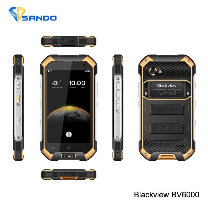 Original Blackview BV6000 MTK6755 4 7 HD Octa Core 4G LTE Waterproof Android 6 0 Smart