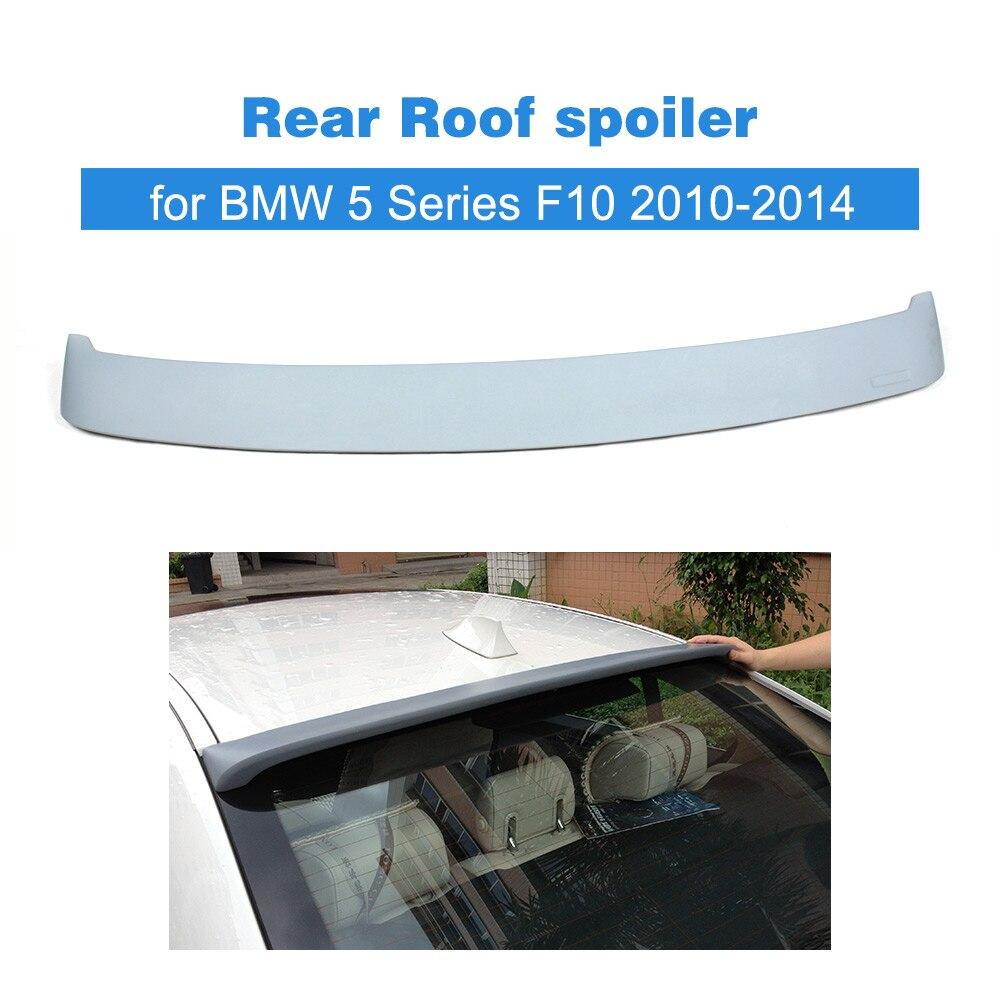 Aile de fenêtre de becquet de toit arrière automatique pour BMW série 5 F10 2010-2014 PU pièces de réglage de voiture grise non peinte