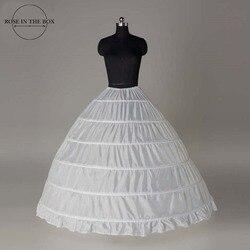 Großhandel 6 Hoops Braut Hochzeit Petticoat Ehe Gaze Rock 2019 Krinoline Unterrock Hochzeit Zubehör Jupon Mariage