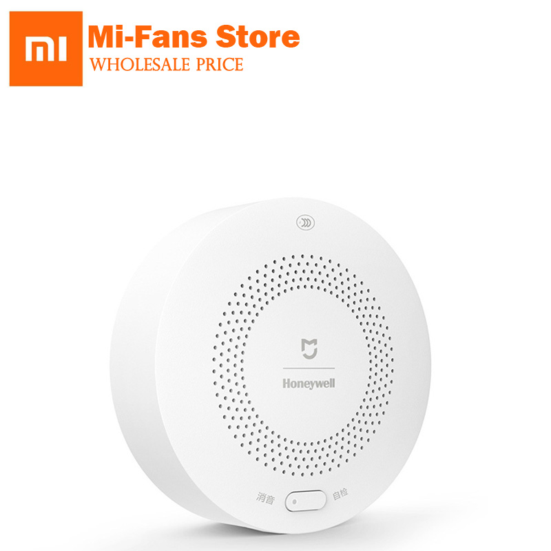 100% Xiaomi Mijia Honeywell Smart Gas Alarm Monitoring Kitchen for Dangerous Gasses CH4 Once Leak Smart Alarm Via Mi APP