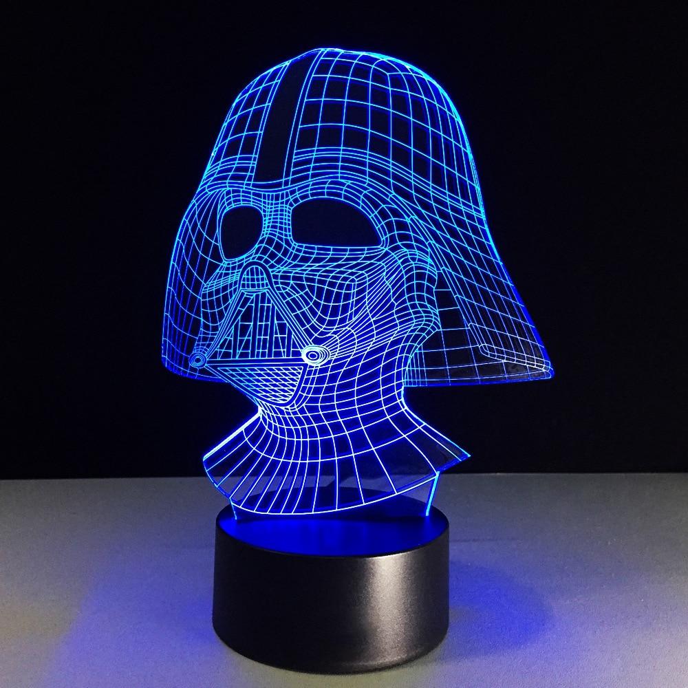 Us 13 84 40 Off 7 Color Led Nightlight 3d Usb Darth Vader Star Wars Desk Lamp Baby Sleep Lighting Decor Bedside Light Fixture Kids Creative Gift In