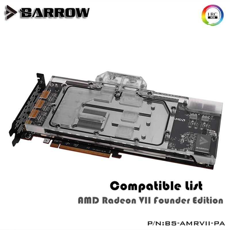 Barrow VGA Block For AMD Radeon VII Founder Edition GPU Water Block Full Cover BS AMRVII