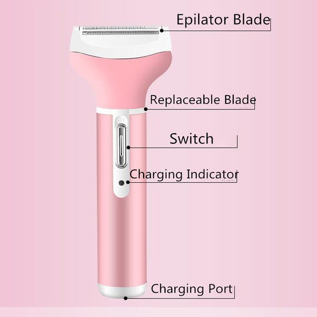 4 in 1 EU PLUG Electric Epilator Nose Hair Trimmer Beard Shaver Eyebrow Trimer Hair Removal For Women Female 2