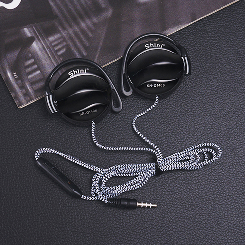 SN-140S Earphone Ear Hook Sport Headphone In-line Control Clarity Stereo Sound With Mic For Phone MP3 Computer Gaming Headset