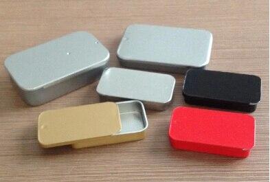 Lot of 100pcs 0 5oz Sliding Rectangular Tins Body Salve Lip Balm Box 15ml 17ml Jar