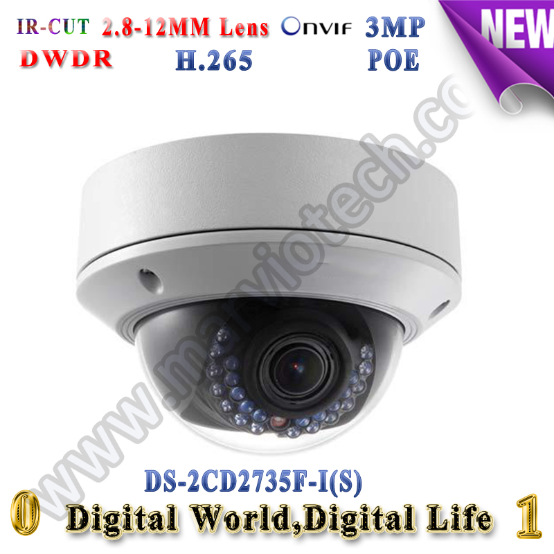 ds-2cd2735f-is hikvision ip camera poe 3MP ip cameras outdoor IP66 Video Surveilance camera zoom with audio alarm TF Card cd диск fleetwood mac rumours 2 cd