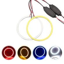 все цены на LED Angel Eyes Car Headlight Halo Rings COB LED DRL Canbus No Error DC12V 60mm 70mm 80mm 90mm 100mm 110mm 120mm Auto Motorcycle онлайн