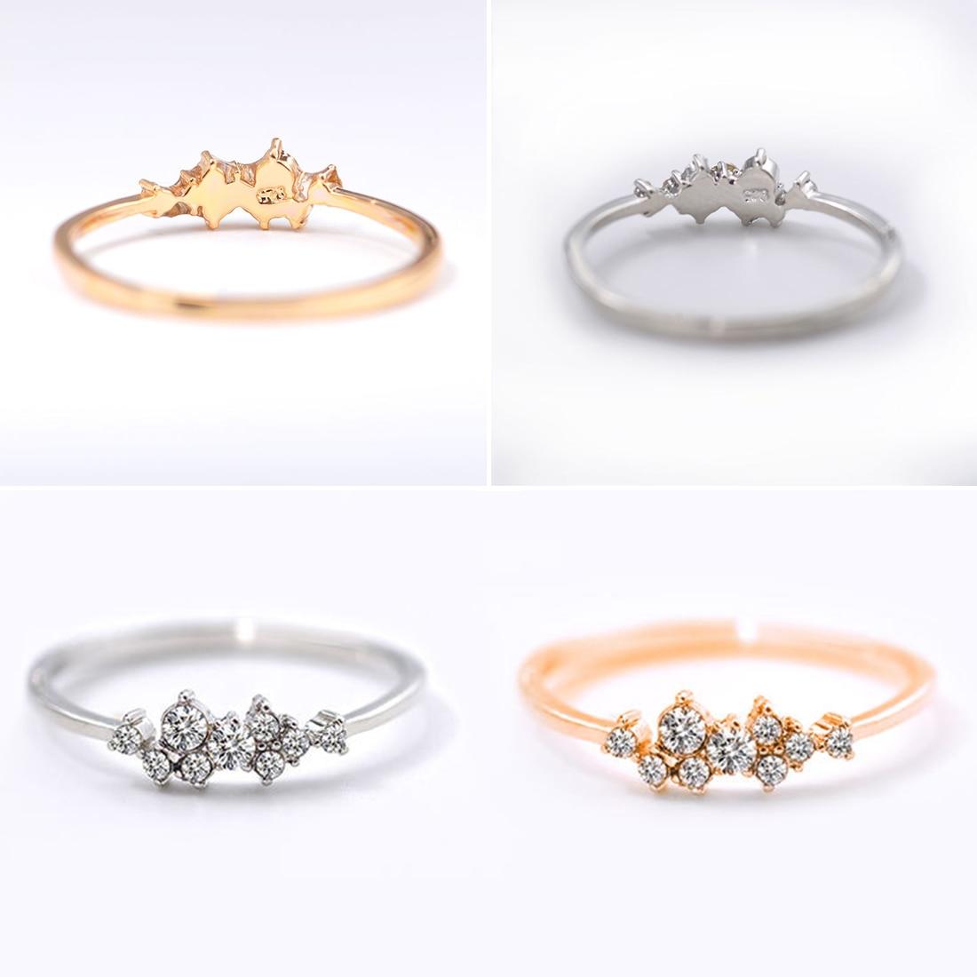 Fashion Men Wedding Band Ring engagement cristal strass bijoux hot taille 19#