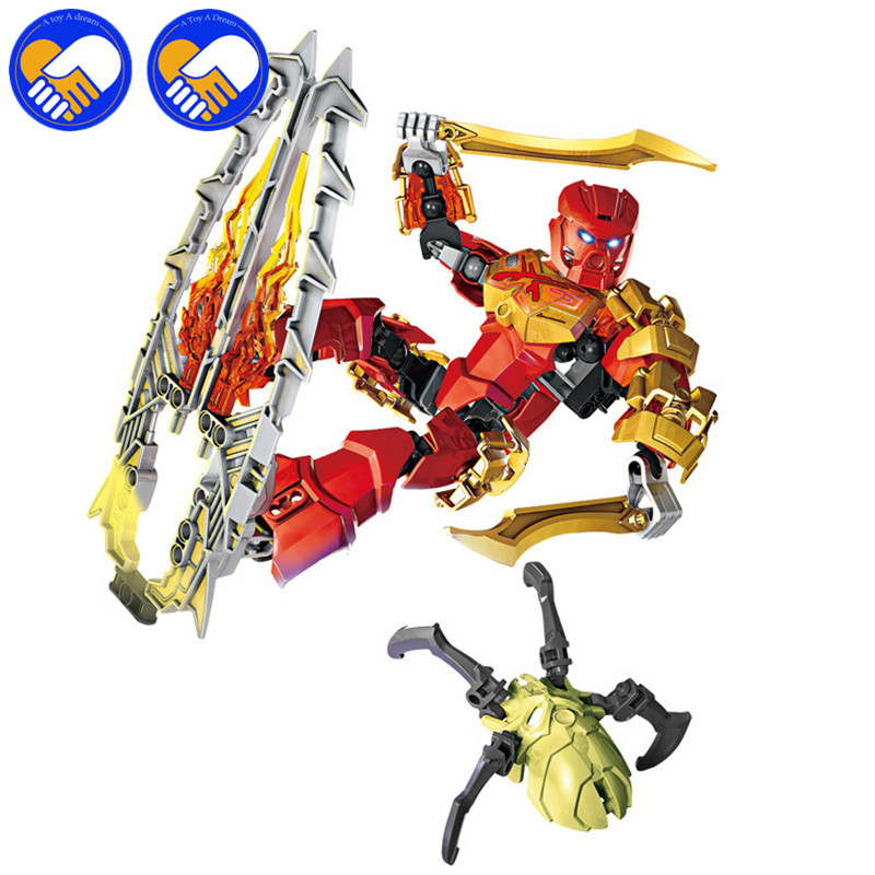 A TOY A DREAM 2017 new hot sale Bionicle tahu masters of fire XSZ 708-3 Building Block Toys Monster Figure Blocks BL051 bionicle series xsz 706 jungle rock water earth ice fire protecto action building block p073