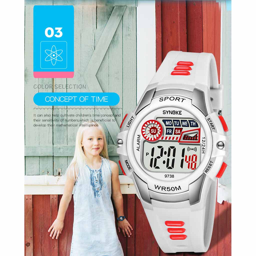 children's watch Luminous Alarm Waterproof Multifunctional Student Electronic Watch kids watches girls