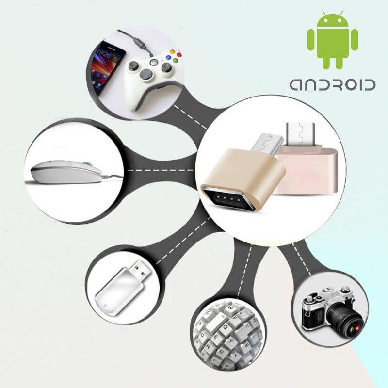 Hermoso Mini Micro Usb Otg Adaptador Convertidor Para Samsung Sony Lg Htc Xiaomi Lenovo Huawei Meizu Tablet Teclado De Ratón De Flash Disco FáCil De Usar