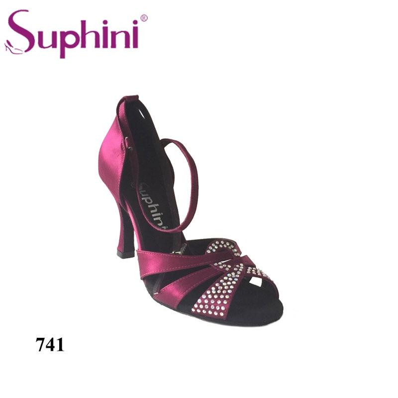 FREE SHIPPING Woman 10cm Heel Latin Dance Shoes Satin Zapatos de Baile Latino free shipping 2015 suphini purple latin shoes satin salsa shoe woman dance shoes zapatos de baile
